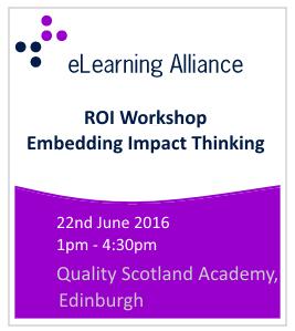 ROI Workshop - Embedding Impact Thinking